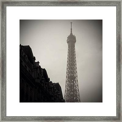 Eiffel Tower - Paris ( Memories ) Framed Print