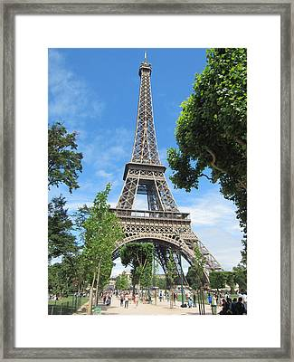 Framed Print featuring the photograph Eiffel Tower - 1 by Pema Hou