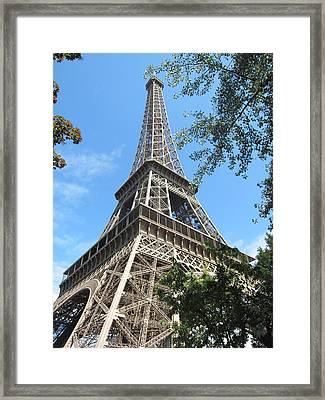 Framed Print featuring the photograph Eiffel Tower - 2 by Pema Hou