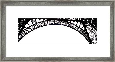Eiffel Tower Abstract Framed Print by Mary Bedy