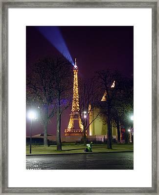 Eiffel Tower As A Lighthouse Framed Print