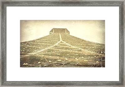 Eiffel Tower At The Top Framed Print by Patricia Awapara