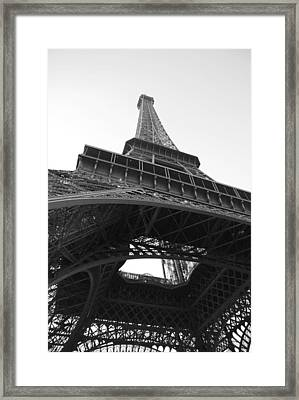 Eiffel Tower B/w Framed Print by Jennifer Ancker