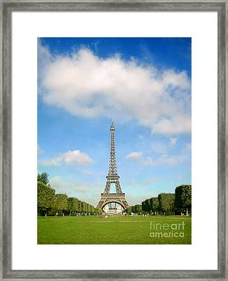 Eiffel Tower Blue Sky's Paris  Framed Print by Europe  Travel Gallery