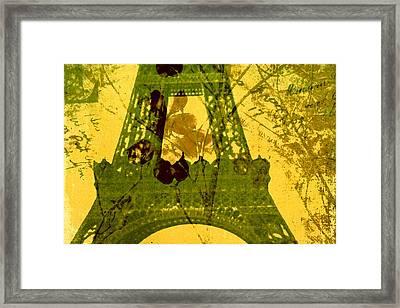 Eiffel Tower Framed Print by Bonnie Bruno