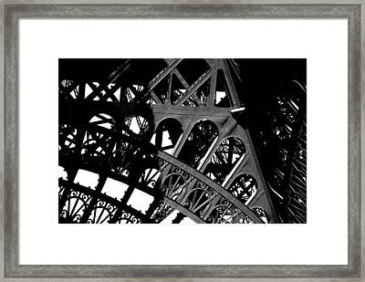 Eiffel Tower Bw Framed Print by Jacqueline M Lewis