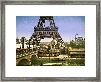 Eiffel Tower World's Fair Framed Print by John K Woodruff