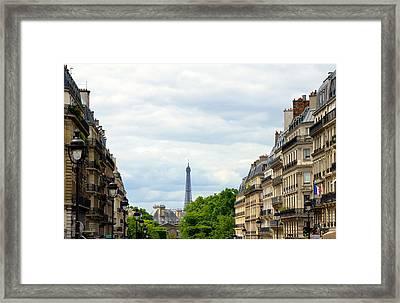 Eiffel Tower Framed Print by Corinne Rhode