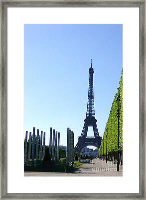 Framed Print featuring the photograph Eiffel Tower by Deborah Smolinske