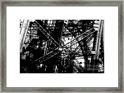 Framed Print featuring the photograph Eiffel Tower Detail  by Joey Agbayani