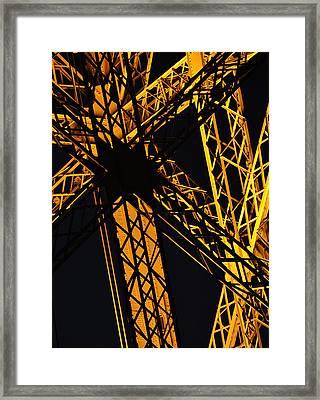 Eiffel Tower Detail Framed Print
