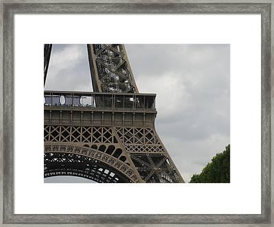 Eiffel Tower Detail Framed Print by Stephanie Hunter