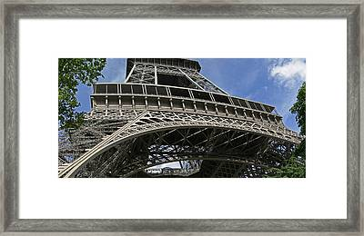 Eiffel Tower First Balcony Framed Print by Gary Lobdell