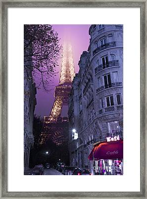 Eiffel Tower From A Side Street Framed Print