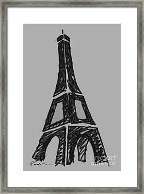 Eiffel Tower Graphic Framed Print