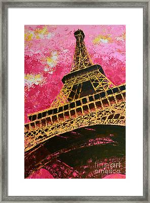 Eiffel Tower Iconic Structure Framed Print