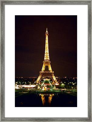 Eiffel Tower In Color Framed Print by Heidi Hermes