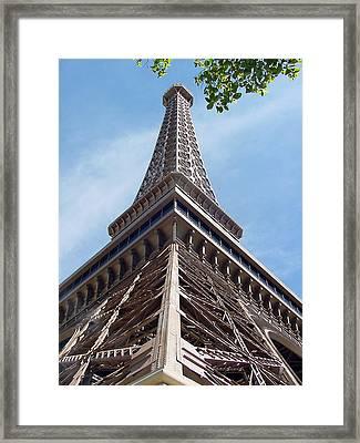 Eiffel Tower In Las Vegas Framed Print