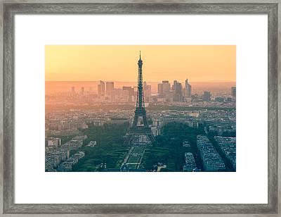 Eiffel Tower In Paris France Framed Print