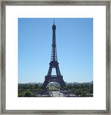 Framed Print featuring the photograph Eiffel Tower by Kay Gilley
