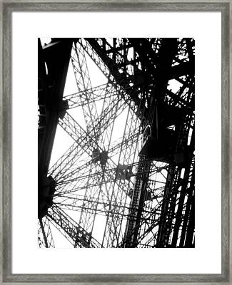 Eiffel Tower Lift Framed Print by Rita Haeussler