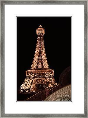 Eiffel Tower Light Up My Dreams Framed Print