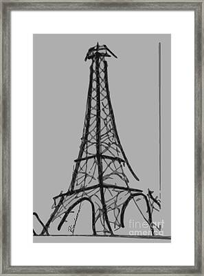 Eiffel Tower Lines Framed Print