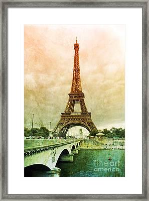 Eiffel Tower Mood Framed Print