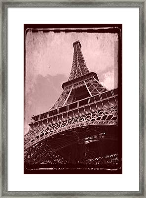 Eiffel Tower - Old Style Framed Print by Patricia Awapara
