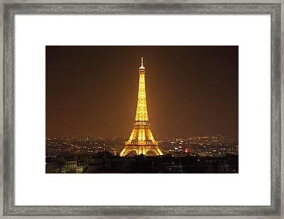 Eiffel Tower - Paris France - 01132 Framed Print