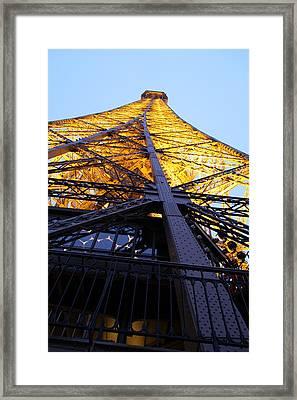 Eiffel Tower - Paris France - 01133 Framed Print by DC Photographer