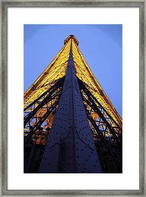 Eiffel Tower - Paris France - 01137 Framed Print by DC Photographer