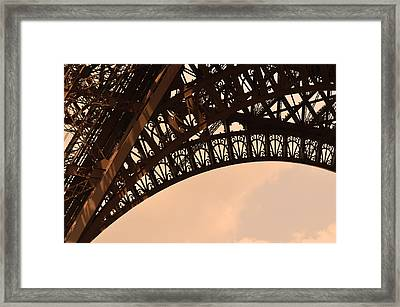 Eiffel Tower Paris France Arc Framed Print by Patricia Awapara