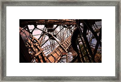 Eiffel Tower Paris France Close Up Framed Print by Patricia Awapara