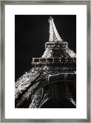 Eiffel Tower Paris France Night Lights Framed Print
