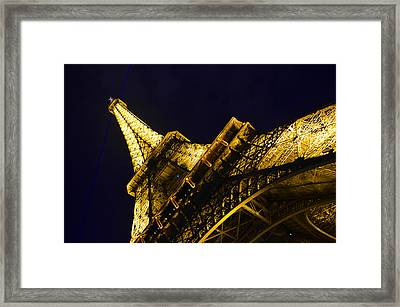 Eiffel Tower Paris France Side Framed Print