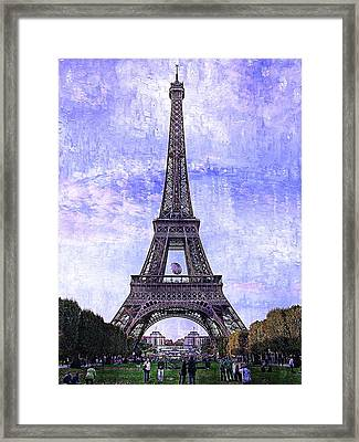 Eiffel Tower Paris Framed Print by Kathy Churchman