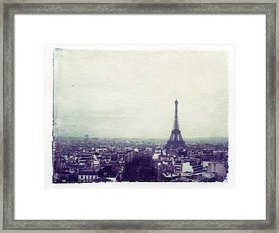 Eiffel Tower Paris Polaroid Transfer Framed Print by Jane Linders