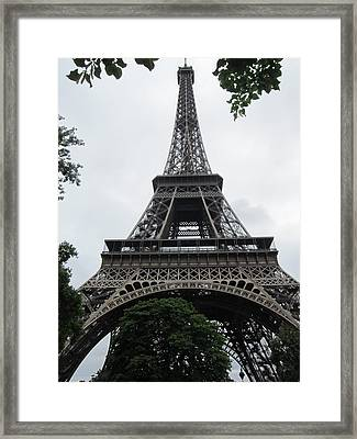 Framed Print featuring the photograph Eiffel Tower by Pema Hou