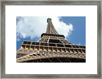 Framed Print featuring the photograph Eiffel Tower Perspective by Kay Gilley