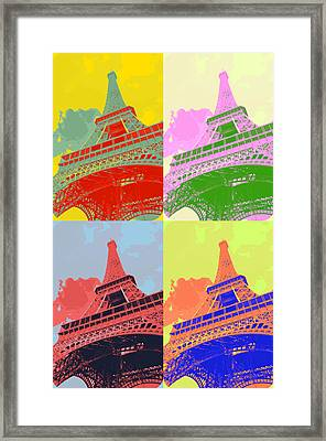 Eiffel Tower - Pop Art Framed Print