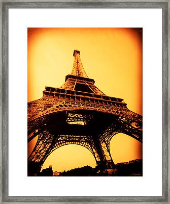 Framed Print featuring the photograph Eiffel Tower by Renee Anderson