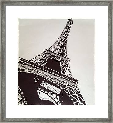 Eiffel Tower Framed Print by Ryan Jirjis