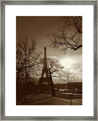 I'll Meet You At The Eiffel Tower Framed Print