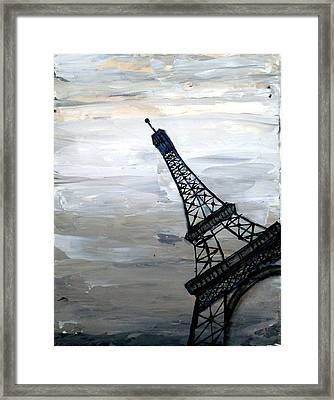 Eiffel Tower Silhouette Framed Print by Holly Anderson