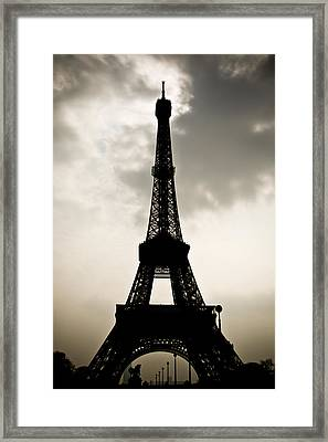Eiffel Tower Silhouette Framed Print