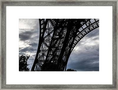 Framed Print featuring the photograph Eiffel Tower Storm by Ross Henton
