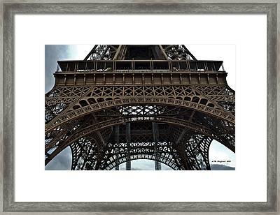 Framed Print featuring the photograph Eiffel Tower - The Forgotten Names by Allen Sheffield