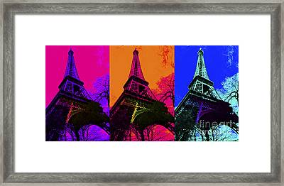 Eiffel Tower Three 20130116 Framed Print by Wingsdomain Art and Photography