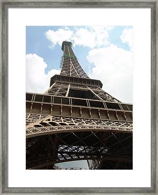 Eiffel Tower Framed Print by Tommy Budd